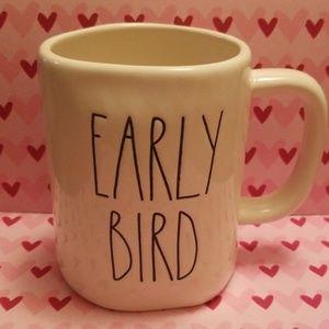 "Brand new Rae Dunn ""EARLY BIRD"" coffee mug"